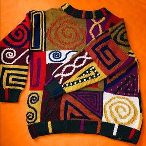 Hand knit vintage sweater 1985